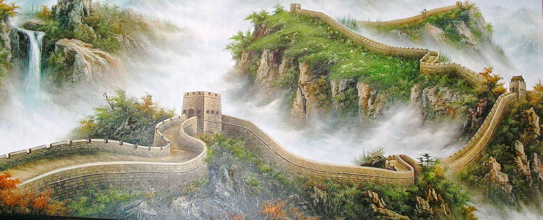 The o 39 jays great wall of china and china painting on for Chinese mural art