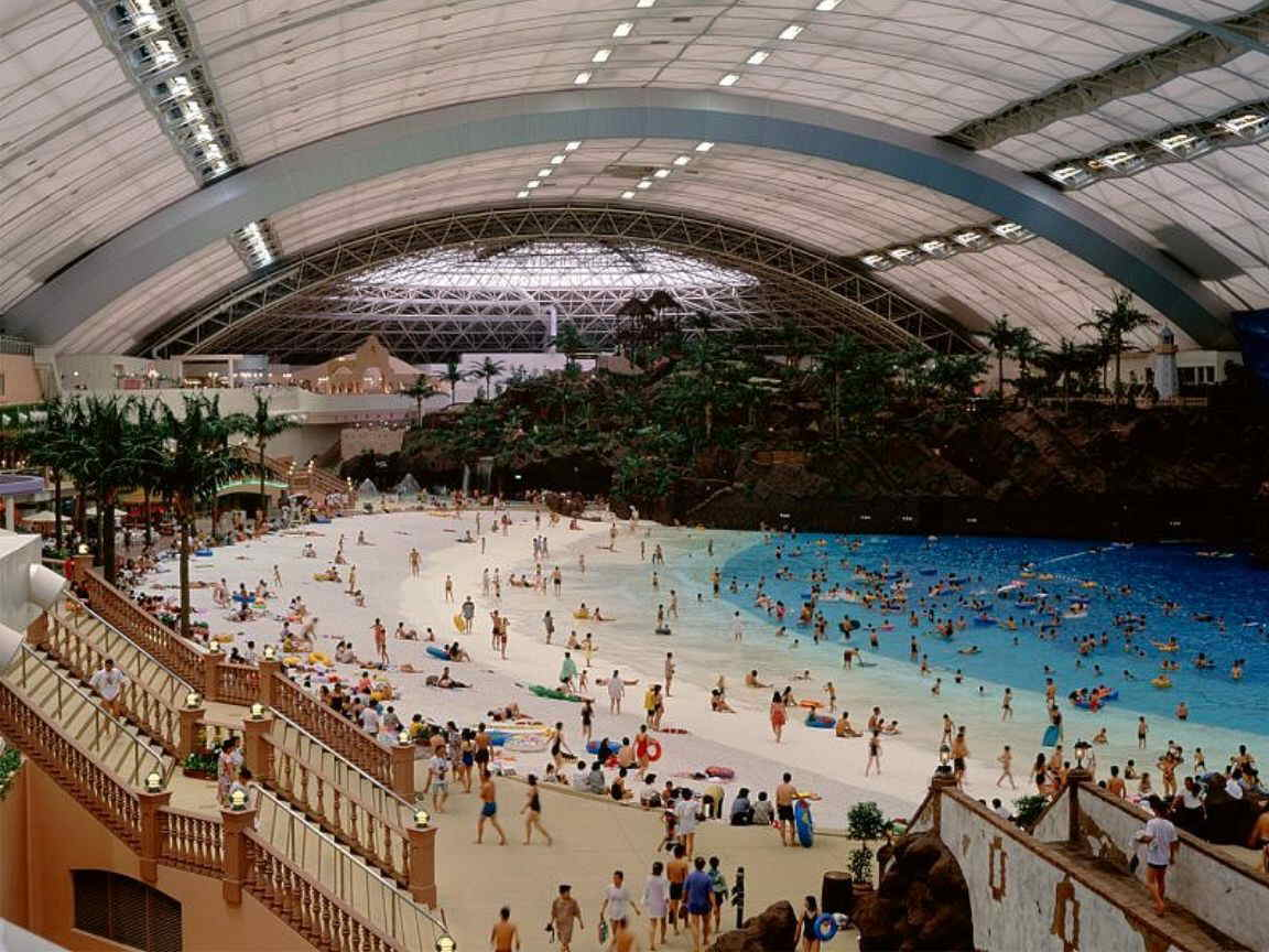 Miyazaki ocean dome largest indoor water park in the for Water in japanese